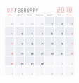calendar february 2018 vector image vector image