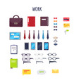 cartoon work equipment isolated set vector image vector image