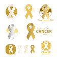childhood cancer day symbol collection abstract vector image vector image