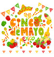 cinco de mayo celebration festive clipart vector image vector image
