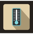 Cold thermometer icon flat style vector image vector image
