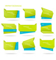 collection colorful origami paper banners vector image