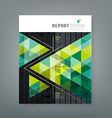 Cover report triangle geometry green for business vector image vector image