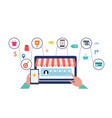 customer journey and product review research vector image vector image