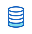 database business filled line icon blue color vector image vector image