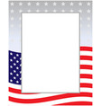 decorative border with us flag pattern vector image
