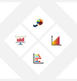 flat icon diagram set of infographic monitoring vector image