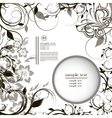 frame with black and white pattern and place vector image vector image