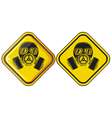Gas mask hazardous sign vector image