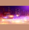 glowing city lights composition vector image