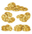 gold coins stacks golden finance icons vector image vector image