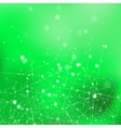 Green Technology Background with Particles vector image vector image