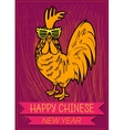 happy chinese new year 2017 zodiac rooster vector image