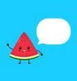 happy smilling cute watermelon vector image vector image