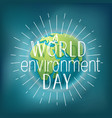 happy world environment day card vector image vector image
