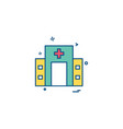 hospital icon design vector image vector image