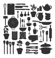 Kitchen tool set isolated vector image vector image