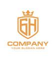 letter gh initial logo luxury logo design vector image vector image