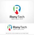 letter r logo template design vector image