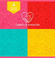 line charity donation patterns vector image