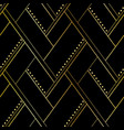 luxury black and gold geometric seamless pattern vector image vector image