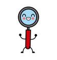 magnifying glass symbol cute kawaii cartoon vector image vector image