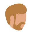 man with beard head faceless vector image vector image