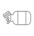 medicine bottle capsule healthcare symbol vector image vector image