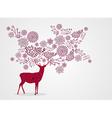 Merry Christmas vintage beautiful reindeer vector image vector image