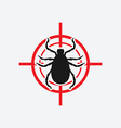mite icon red target vector image