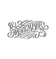 movember retro lettering on white isolated vector image vector image