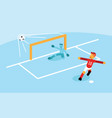 number ten scoring penalty goal vector image