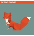 origami isolated animal Cute Fox vector image vector image