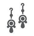 pair of earrings glyph icon jewellery and vector image vector image
