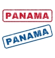 Panama Rubber Stamps vector image vector image