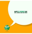 Patrick day social media background vector image