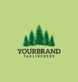 pines tree its good for forest conservation logo vector image