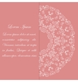 Pink card design with ornate pattern vector image vector image