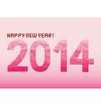 Pink shade new year 2014 vector image vector image