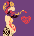 Pregnant woman silhouette vector image vector image