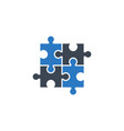 puzzle related glyph icon vector image vector image