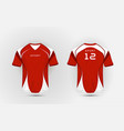 red and white pattern sport football kits jersey vector image vector image