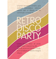retro disco party flyer design vector image