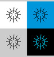 sea urchin thin linear simple icon vector image vector image
