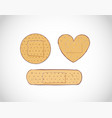 set doodle adhesive plasters on white vector image