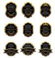 set vintage gold labels vector image