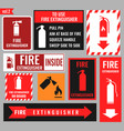 sign of the fire extinguisher vector image vector image