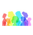 silhouette social diversity people diverse vector image vector image