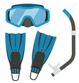Snorkeling and Diving Gear vector image vector image