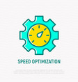 speed optimization thin line icon vector image